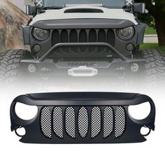 Xprite Beast Grille with Built-In Mesh for 2007-2017 Jeep Wrangler JK, sahara