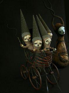Fantasy   Whimsical   Strange   Mythical   Creative   Creatures   Dolls   Sculptures   Scott Radke