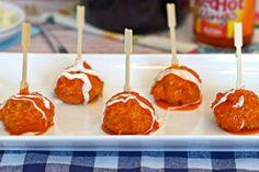 Blue Cheese Stuffed Buffalo Chicken Meatballs