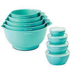 KitchenAid 18 Piece Mix, Measure and Prep Bowl Set (Turquoise)