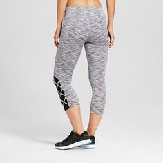 Women's Strappy Mesh Capri - Dark Gray XL - C9 Champion