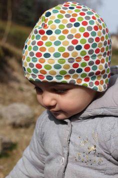 Dětská jarní čepice přes uši
