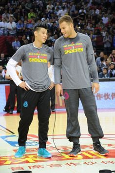 Jeremy Lin and Blake Griffin