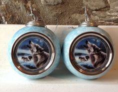 Evening Song Wolf Baubles/Bradford by MerryLegsandTiptoes on Etsy