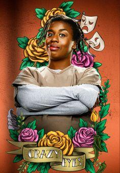 Orange+Is+The+New+Black+season+3+artwork:+Crazy+Eyes - Cosmopolitan.co.uk