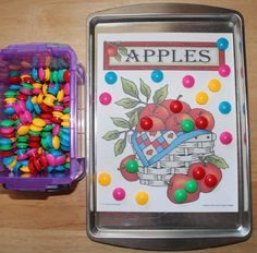 Apples magnet sheets. A fun activity to add to your apple theme.