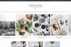 TUULIKKI Nordic Blog Shop Wordpress Theme creativemarket, graphic design, templates, resources, products, inspiration, website design