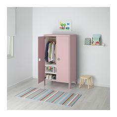 BUSUNGE Klädskåp - IKEA Rosa för tjejrum