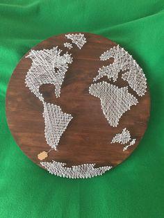 String art world map by CraftsByMaritza on Etsy