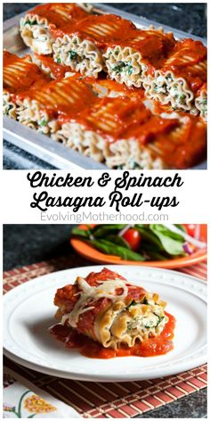 These Chicken and Spinach Lasagna Roll-ups are magical because it's possible to clean all the prep dishes before dinner while dinner bakes. Lasagne Roll Ups, Lasagna Chicken Roll Ups, Chicken Spinach Lasagna, Ricotta Stuffed Chicken, Spinach Lasagna Rolls, Chicken Pasta, Tortellini, Ravioli, Quesadillas