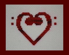 Music Clef Hearts Cross Stitch Pattern Collection Treble and