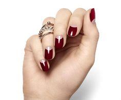DIY half moon manicure