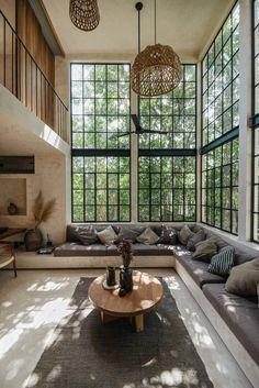 Dream Home Design, Home Interior Design, Interior Architecture, Interior Ideas, Residential Architecture, Exterior Design, Interior Colors, Interior Garden, Interior Lighting