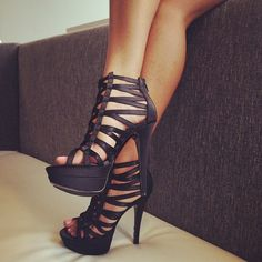 Black stilettos