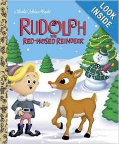 Children ages will love to read this Little Golden Book retelling of the classic 1964 holiday TV special Rudolph the Red-Nosed Reindeer. All of the other reindeer make fun of Rudolph and won't . Grinch Stole Christmas, A Christmas Story, First Christmas, Vintage Christmas, Reindeer Christmas, Christmas Ideas, Merry Christmas, Barney Christmas, Christmas Cards