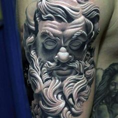 3D Tattoos Of Poseidon For Men