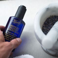 When everyone else is sleeping, our magical formulation, Midnight Recovery Concentrate, is hard at work restoring your skin's appearance by morning...  {#KiehlsApothecary #Midnight #SkinTreatment #Restoration}