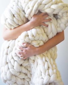 Chunky Knit Throw by NoraJaneKnits on Etsy