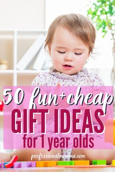 Shopping for Christmas or birthday gifts for your favorite 1 year old boy or girl? Here are fun and cheap gifts they will play with all year long. Christmas Shopping, Christmas Gifts, Non Toy Gifts, Thing 1, Cheap Gifts, 1 Year Olds, Toddler Gifts, Boy Or Girl, Birthday Gifts