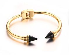 Quubb Women Stainless Steel Arrow Bullet Spike Open Cuff ... https://www.amazon.com/dp/B01IER9344