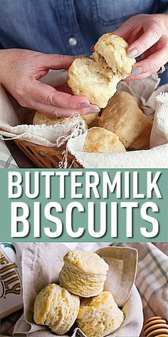 Tall, fluffy buttermilk biscuits just like your southern grandma made. Homemade bread on the table in 20 minutes or less Biscuit Recipe Video, Easy Biscuit Recipe 3 Ingredients, Homemade Buttermilk Biscuits, Southern Breakfast, Ground Beef Recipes, Dessert Recipes, Dinner Recipes, Crack Crackers, Gastronomia