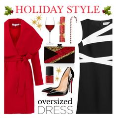 """Holiday Style - Oversized Dress"" by lgb321 ❤ liked on Polyvore featuring Edie Parker, Christian Louboutin, NARS Cosmetics, Grandin Road, LSA International, Keepsake the Label and Emilio Pucci"