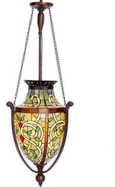 Dining Room Light Fixture Tiffany Style Stained Glass Ceiling Chandelier Mission 693829288379 | eBay