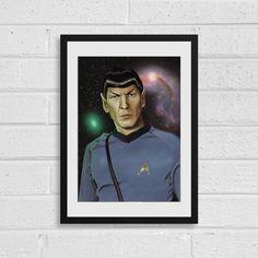 Mr Spock Star Trek Inspired Art Print by SefieRosenlund by Sefie Rosenlund @ Etsy. Life Is Strange, Weird World, Star Trek Characters, Drawing Tablet, Wacom Intuos, Spock, Sign Printing, My Arts