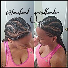 Red Inward Braids for Rocking Queens - 20 Under Braids Ideas to Disclose Your Natural Beauty - The Trending Hairstyle Under Braids, Big Braids, Girls Braids, Jumbo Braids, African Braids Hairstyles, Girl Hairstyles, Braided Hairstyles, Goddess Braids, Beautiful Braids