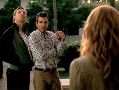 Teddy Sears at Patrick and Zachary Quinto as Chad, Season 1, Murder House