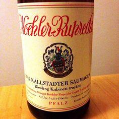 2012 Kallstadter Saumagen  #Riesling Kabinett trocken  Koehler-Ruprecht   Frischer, mineralischer und hoch individueller Wein mit typischer Würze, Tiefe und Komplexität!   #Wein aus der Pfalz #weinerleben.eu