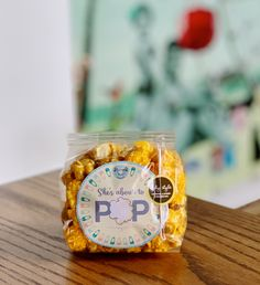 She's about to pop! Customizable popcorn favors for baby showers