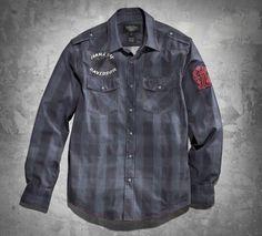 Men's Slim-Fit Full Speed #1 Plaid Shirt