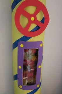 Factory tubes with candy. Use those cement-molding tubes from the hardware store?