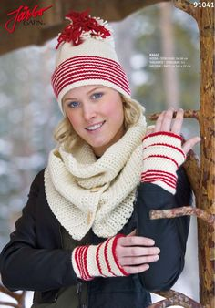 Crochet this -  Hat, gloves and scarf.