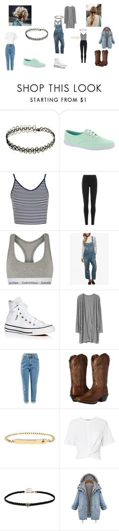 """""""idek"""" by geor6900 on Polyvore featuring Keds, Topshop, DKNY, Calvin Klein Underwear, James Perse, Converse, Ariat, A.P.C. and T By Alexander Wang"""