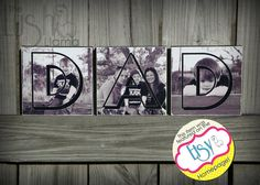 Personalized Photo Blocks  Set of 3  DAD  Mom  GMA by TheLushLlama, $25.00