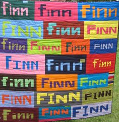 I QUILT FOR FUN: Finn's quilt made with UnRuly Letters. woohoo!!!!