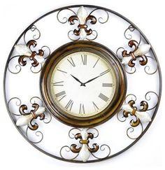 Beautiful!!Pearl Fleur-de-Lis wall clock