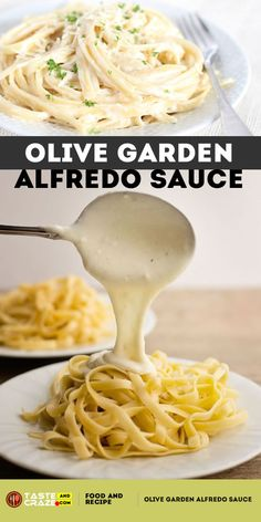 If you are a fan of Olive Garden Alfredo Sauce you are going to be saving some big money with this. Whether you are planning a cozy dinner for two at home or throwing a grand tea-party, this Olive Garden alfredo sauce recipe is a Pasta Recipes, Dinner Recipes, Cooking Recipes, Healthy Recipes, Restaurant Recipes, Healthy Food, Olive Garden Alfredo Sauce Recipe Easy, Fettucini Alfredo Olive Garden, Homemade Chicken Alfredo Sauce