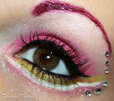 Sailor Chibi Moon inspired make up by http://www.talasia.de/2013/01/12/look-sailor-chibi-moon-inspired-make-up/