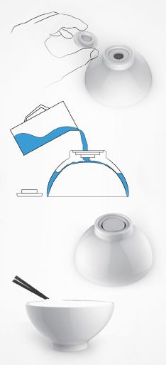 Warm Double-Deck Bowls | Red Dot Design Award for Design Concepts
