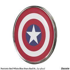 Old Glory, Golf Ball, Red White Blue, Artwork Design, Captain America, Markers, Flag, Clock, Stripes