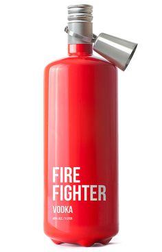 Fire Fighter Vodka - genial vodka bottle by  Timur Salikhov.
