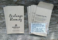 custom printed seed packets