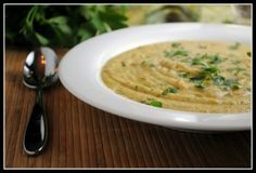 creamy roasted broccoli and cauliflower soup
