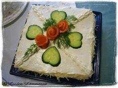 Lohivoileipäkakku Sandwich Cake, Sandwiches, Avocado Toast, Cakes, Breakfast, Food, Morning Coffee, Cake Makers, Kuchen