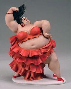 Credits : Emilio Casarotto Fat curvy chubby lady figurine Plus size Art Clay Dolls, Art Dolls, Big And Beautiful, Beautiful Dolls, Art Beauté, Plus Size Art, Fat Art, Arte Popular, Paperclay