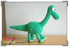 Free dinosaur toy crochet pattern: Arlo