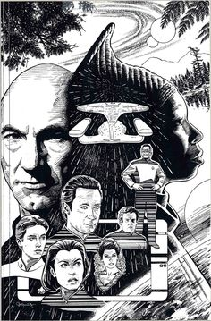 STAR TREK: The Next Generation: Pastiche by *Jerome-K-Moore on deviantART